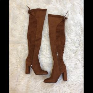 Marc Fisher Faux Suede Thigh High Boots